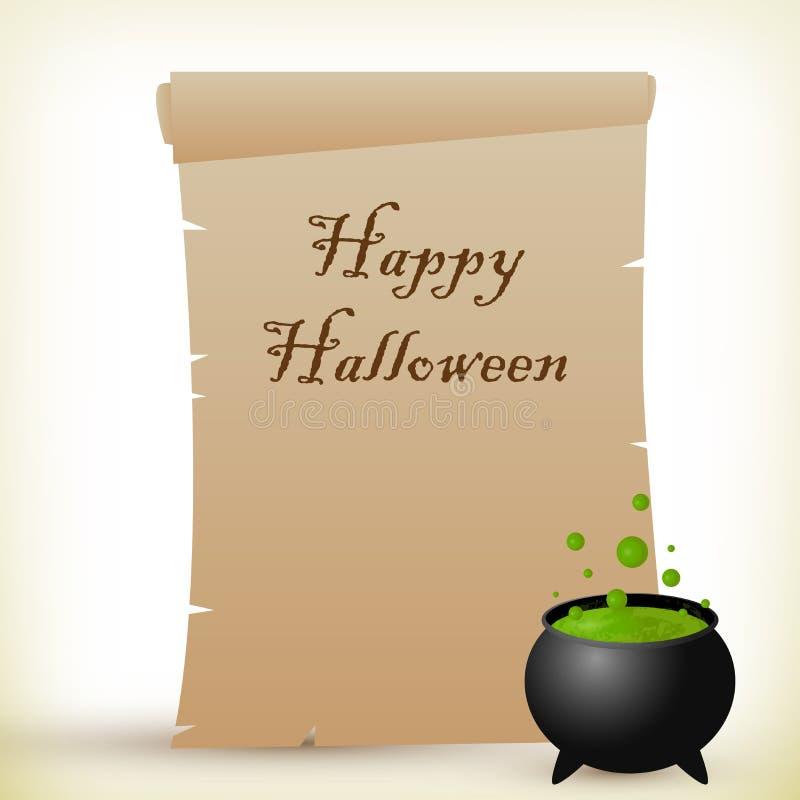 Pergamena di Halloween illustrazione di stock