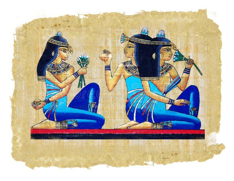 Pergamena egiziana immagine stock