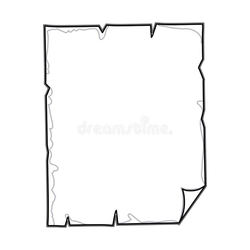 pergamena lacerata di contorno con il bordo piegato dello strato royalty illustrazione gratis