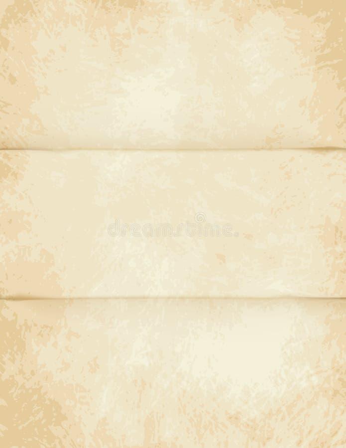 Pergamena leggera piegata vettore royalty illustrazione gratis