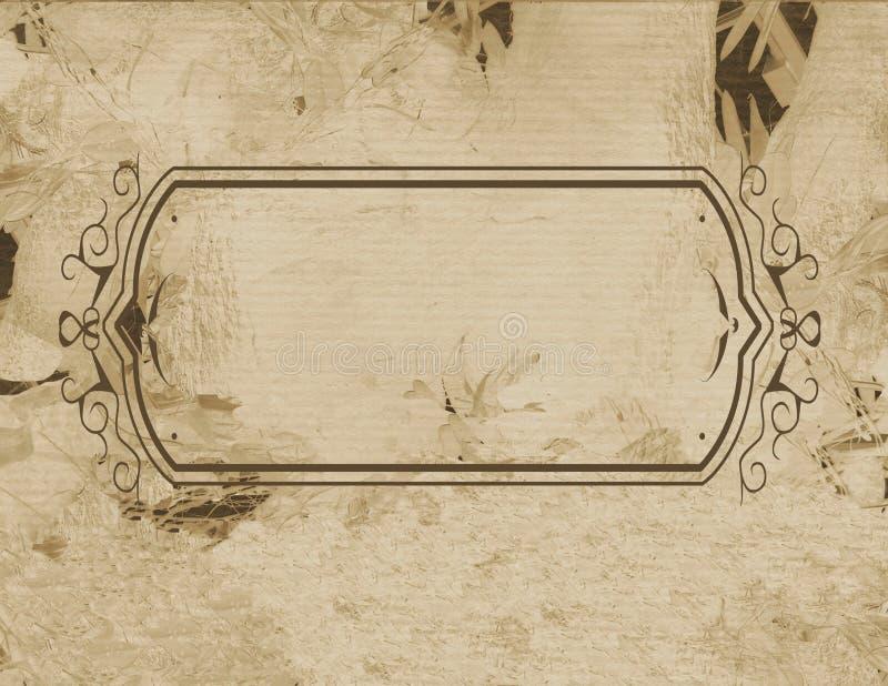Pergament des Feldes stock abbildung