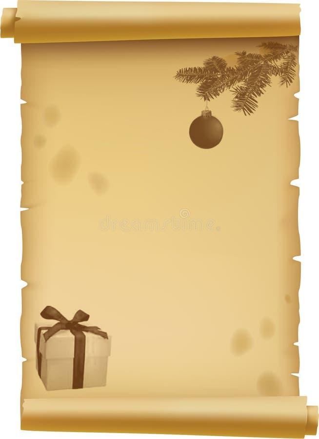 Pergament für Weihnachten vektor abbildung