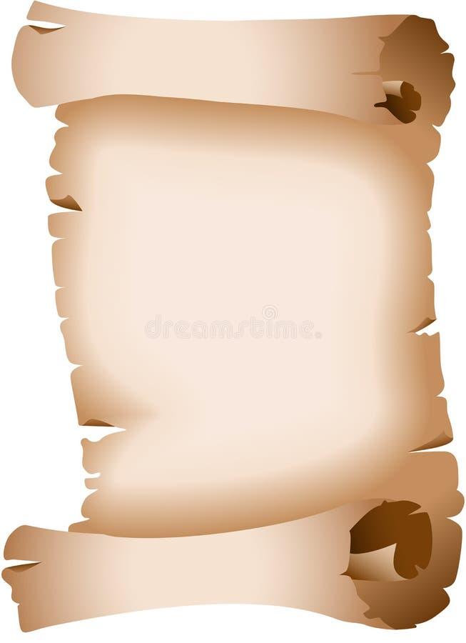 Pergament gealtert stock abbildung