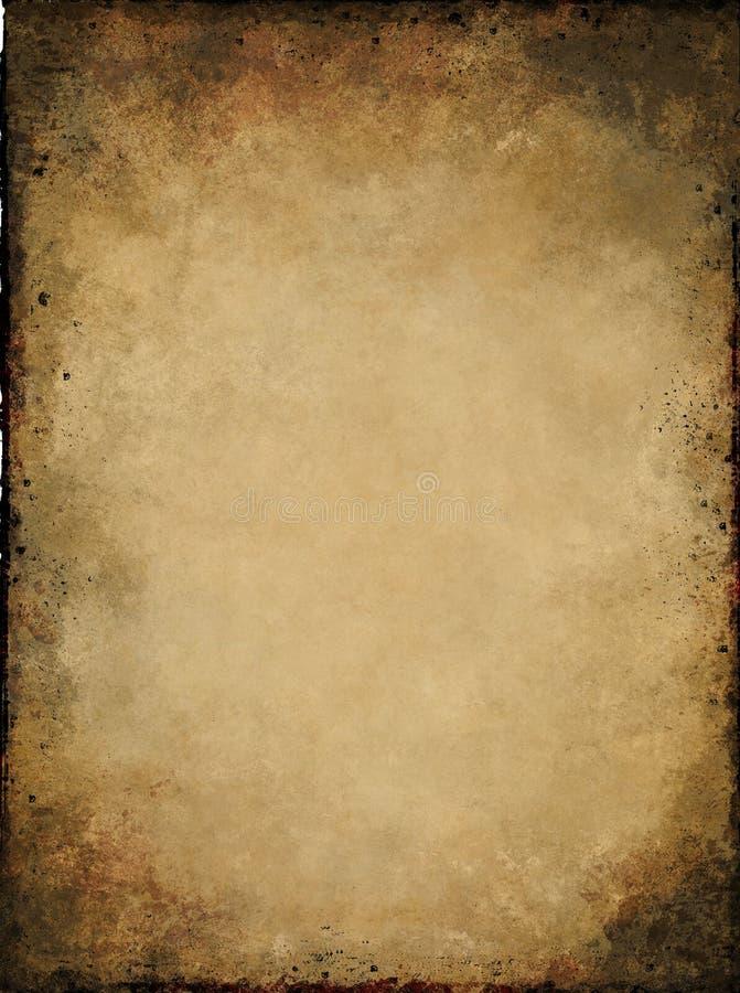 Pergament grunge Beschaffenheit stock abbildung