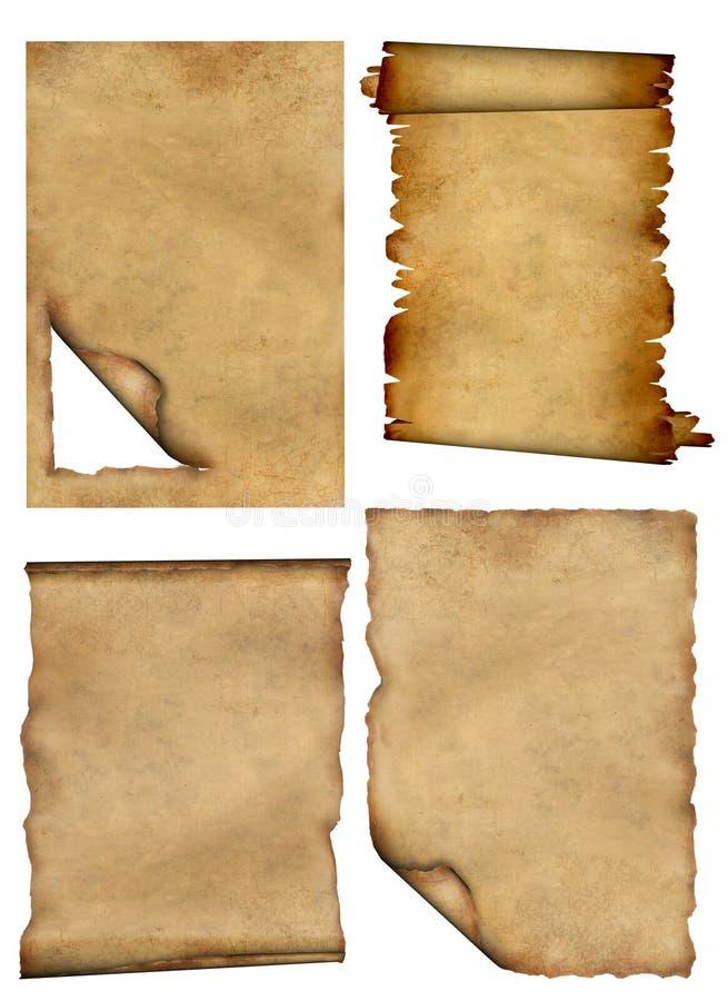 Pergamente vektor abbildung