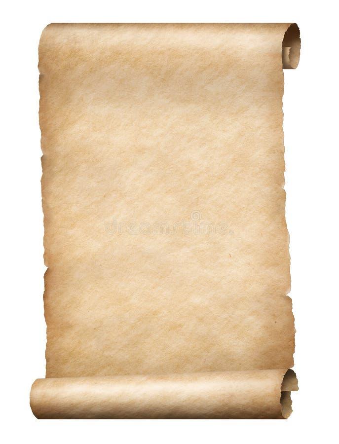 Pergamentrolle stockbild