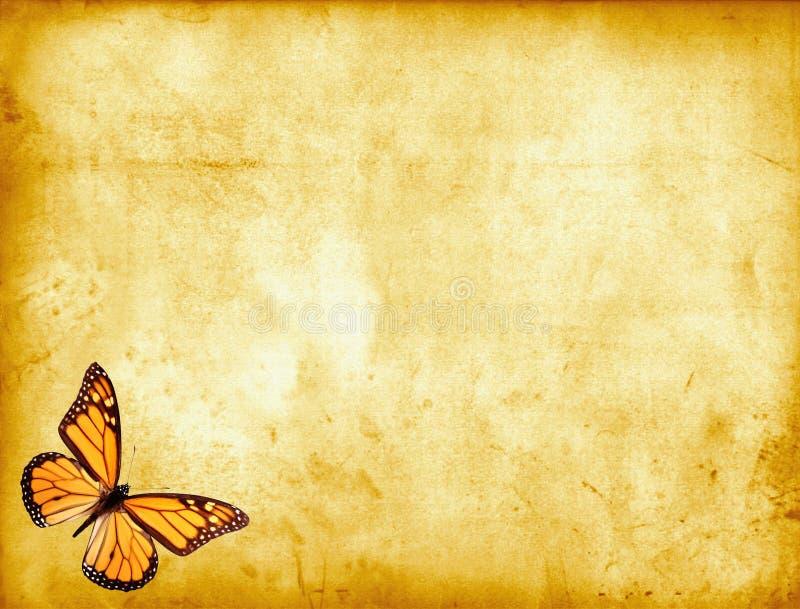 pergamin motyla royalty ilustracja
