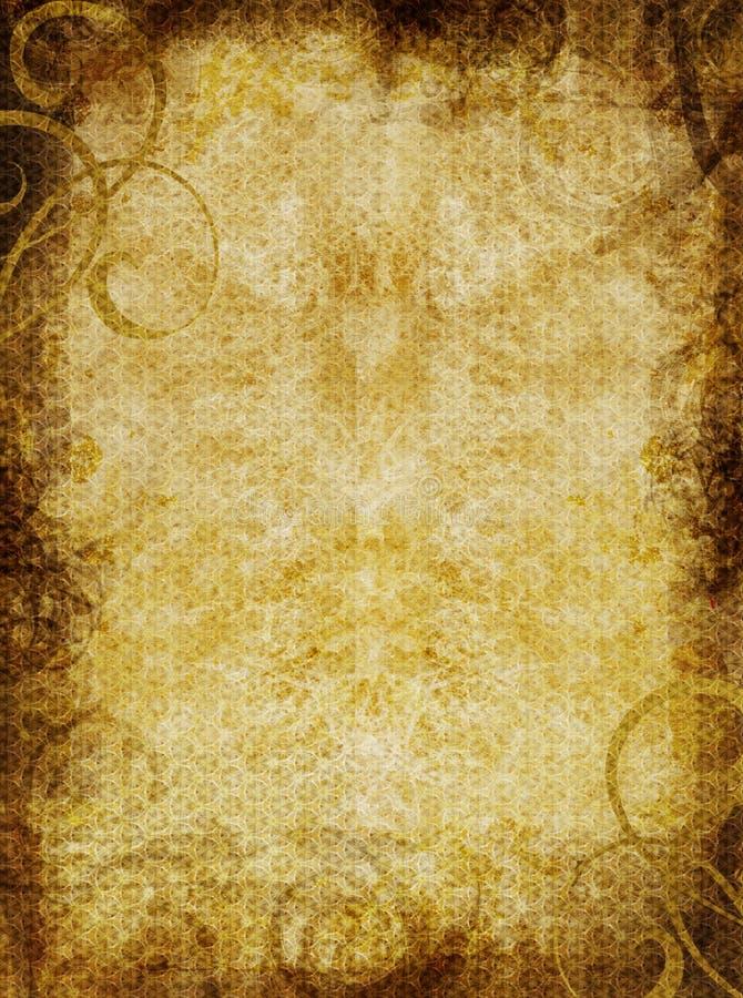 pergamin textured tło royalty ilustracja