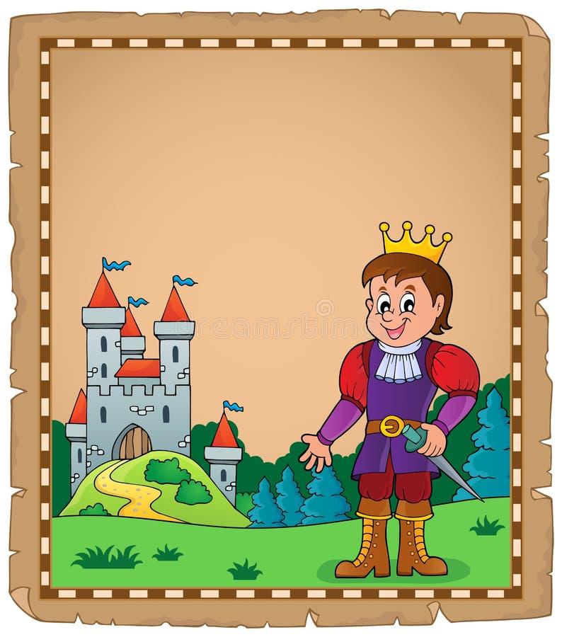 Pergamin z książe tematem 5 ilustracja wektor