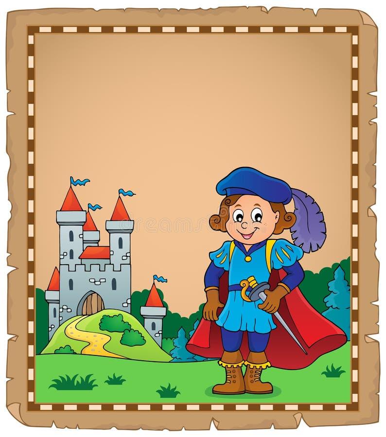 Pergamin z książe tematem 6 royalty ilustracja
