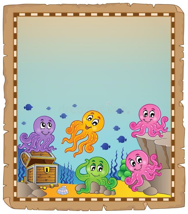 Pergamin z podwodnym tematem 5 ilustracji