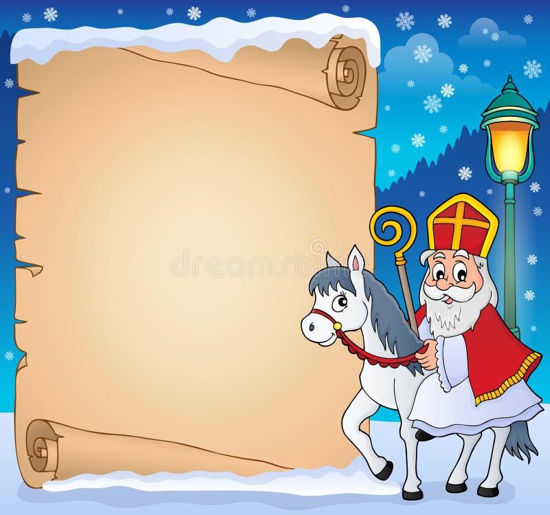 Pergamin z Sinterklaas tematem 4 ilustracji