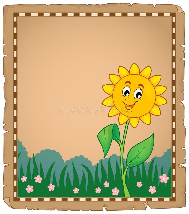 Pergamin z szczęśliwym kwiatem 1 ilustracji