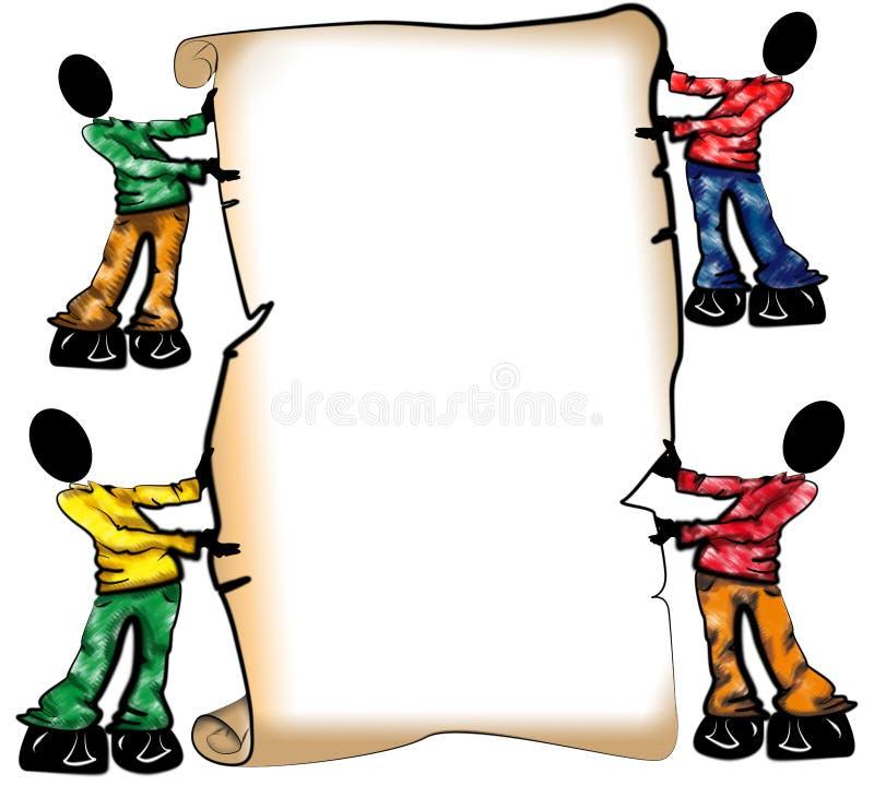Pergaminho ilustração do vetor