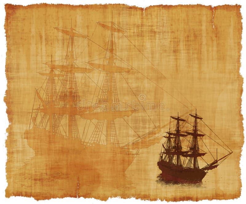 Pergaminho alto do navio fotografia de stock