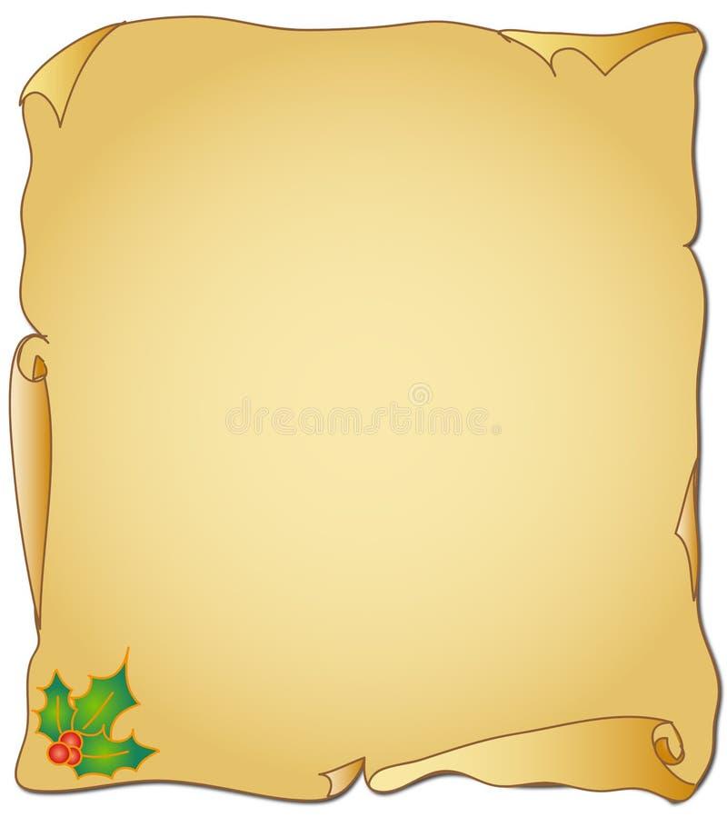 Pergaminho do Natal ilustração stock