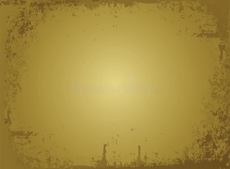 Pergaminho dourado ilustração stock