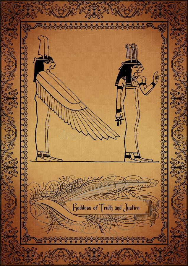 Pergaminho-Egípcio ilustração royalty free