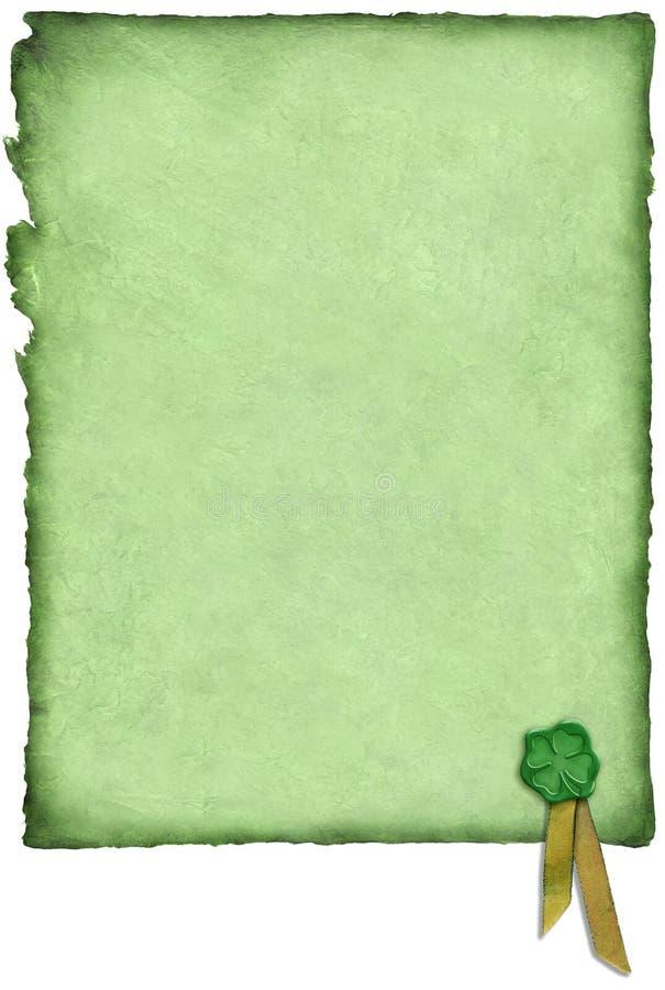 Pergaminho irlandês da sorte foto de stock