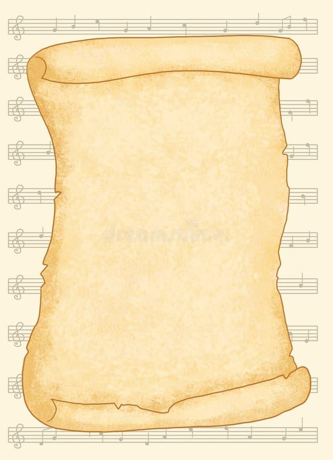Pergaminho musical ilustração stock