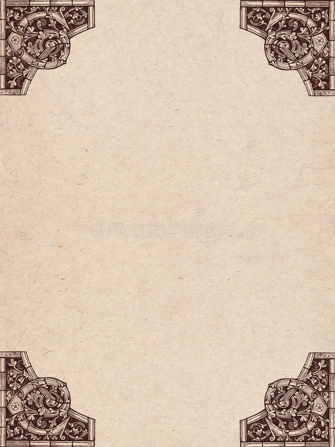 Pergaminho velho ilustração royalty free