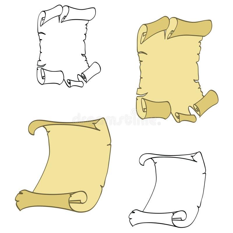 Pergaminhos ilustração do vetor