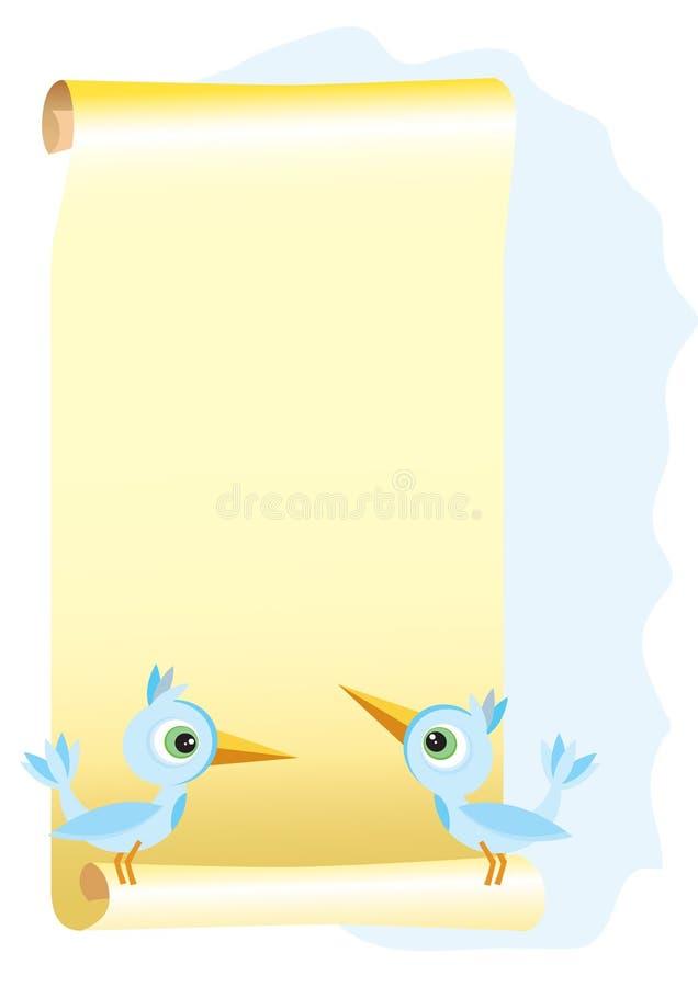 Pergamino stock de ilustración
