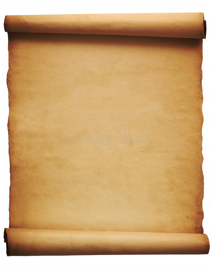 pergamino imagen de archivo