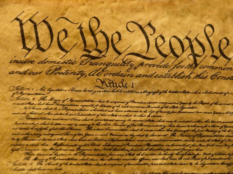 Pergamino de la constitución de los E.E.U.U. fotos de archivo