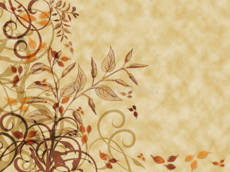 Pergamino de las hojas de otoño libre illustration