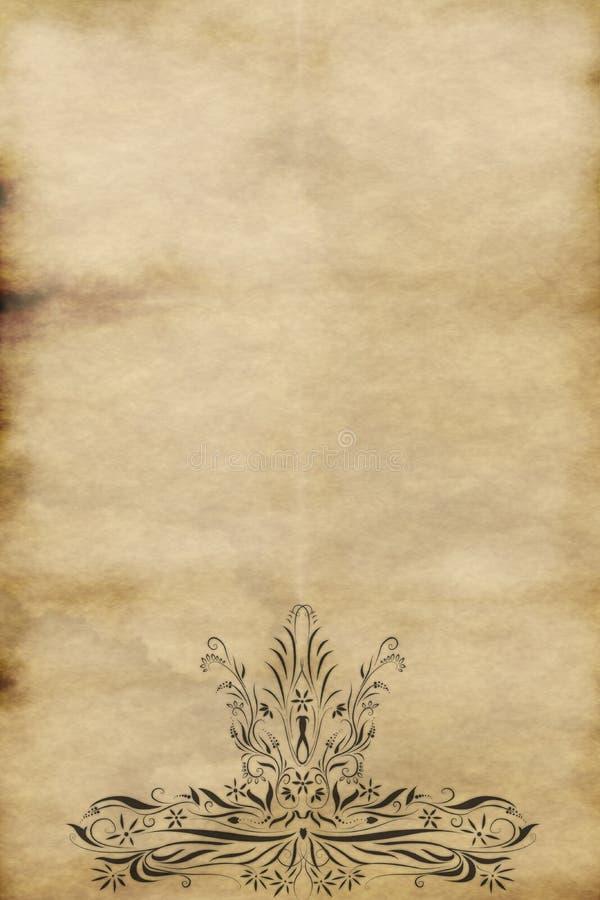 pergamino de papel real viejo   ilustración del vector