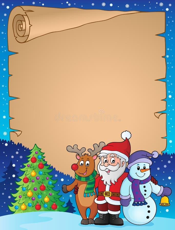 Pergamino 1 del tema de los caracteres de la Navidad libre illustration