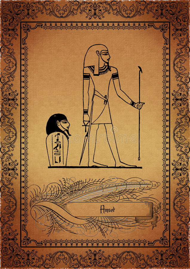 Pergamino-Egipcio ilustración del vector