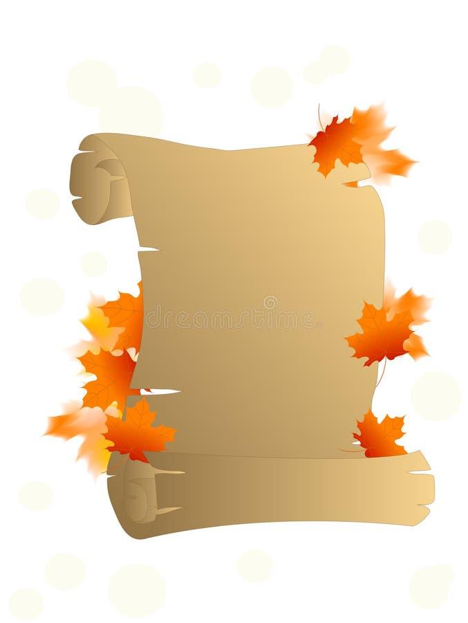 Pergamino del otoño libre illustration