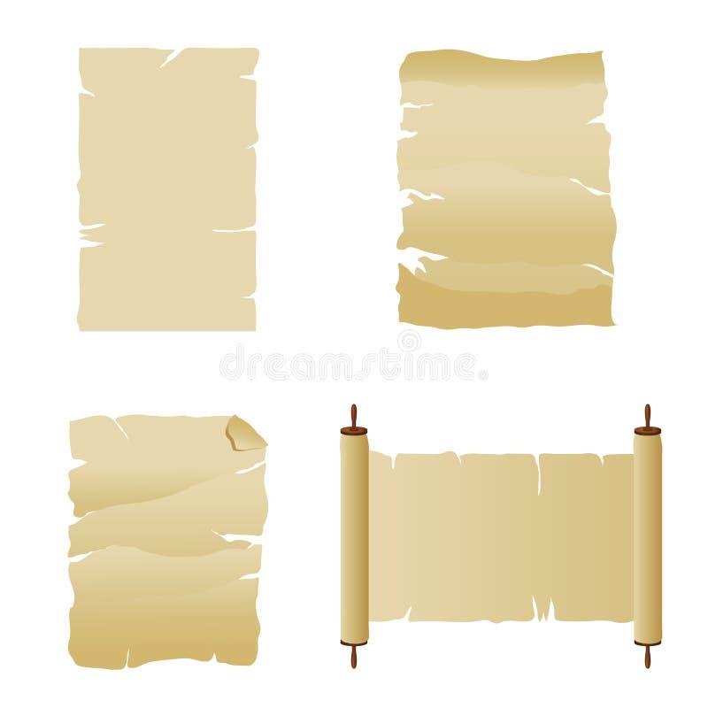 Pergaminos y voluta ilustración del vector