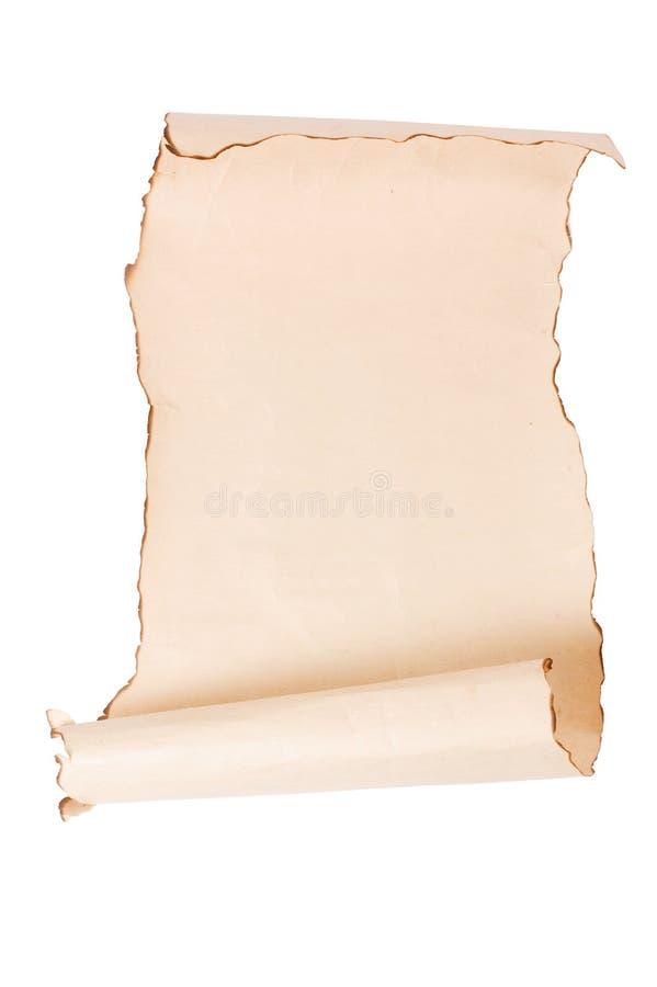 pergaminowej rolki rocznik zdjęcie royalty free