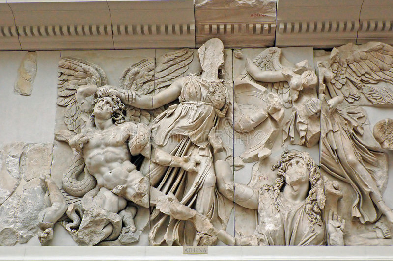 Pergamon altar stock photo