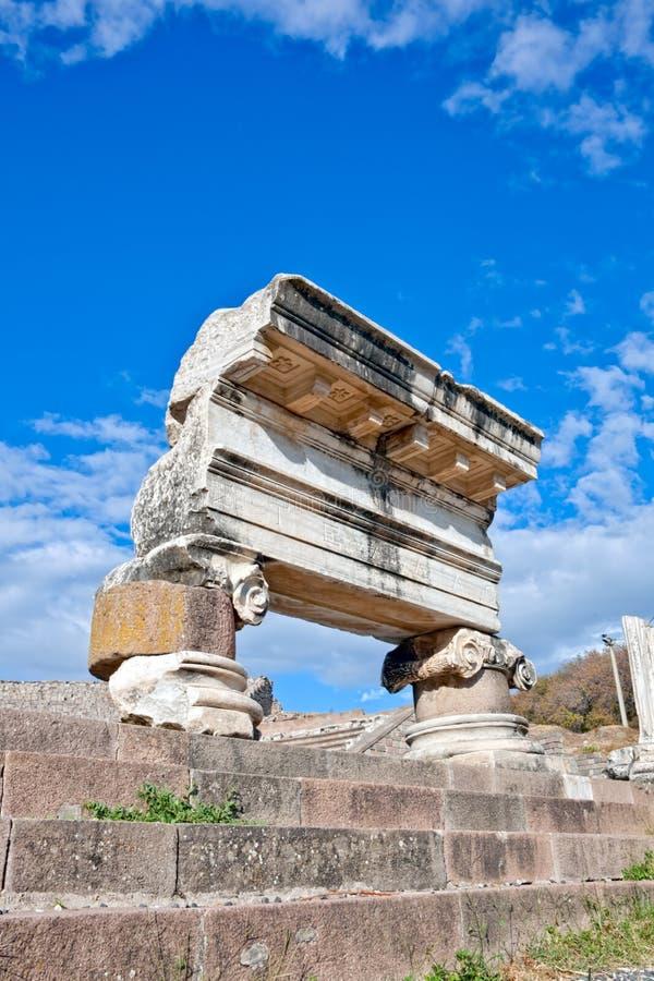 Pergamum - Asklepion romani immagini stock