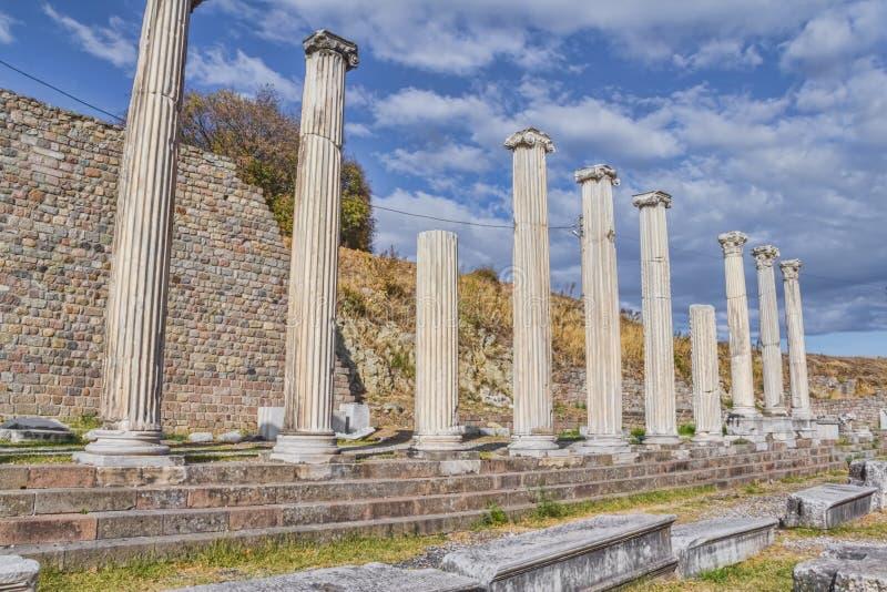 Pergamum - Asklepion romani fotografia stock libera da diritti