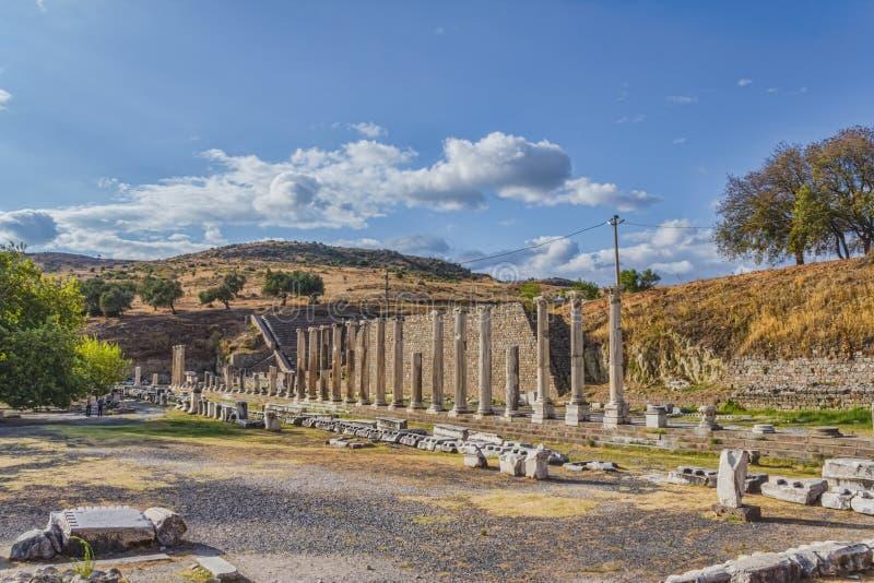 Pergamum - Asklepion romani fotografia stock