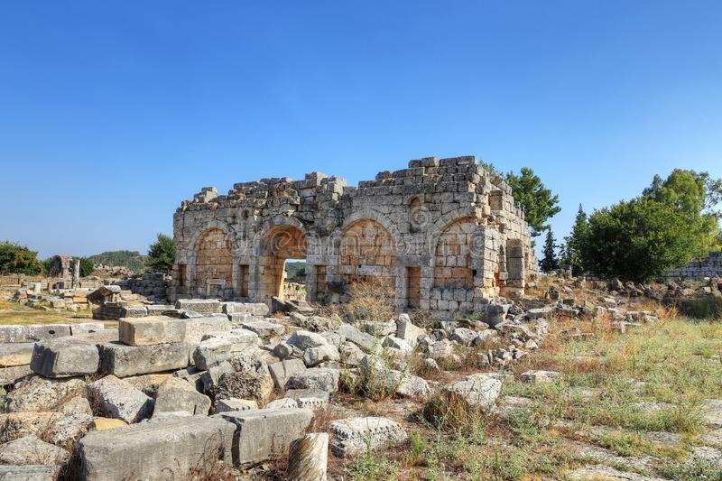 Perge Ancient City in Antalya royalty free stock photo