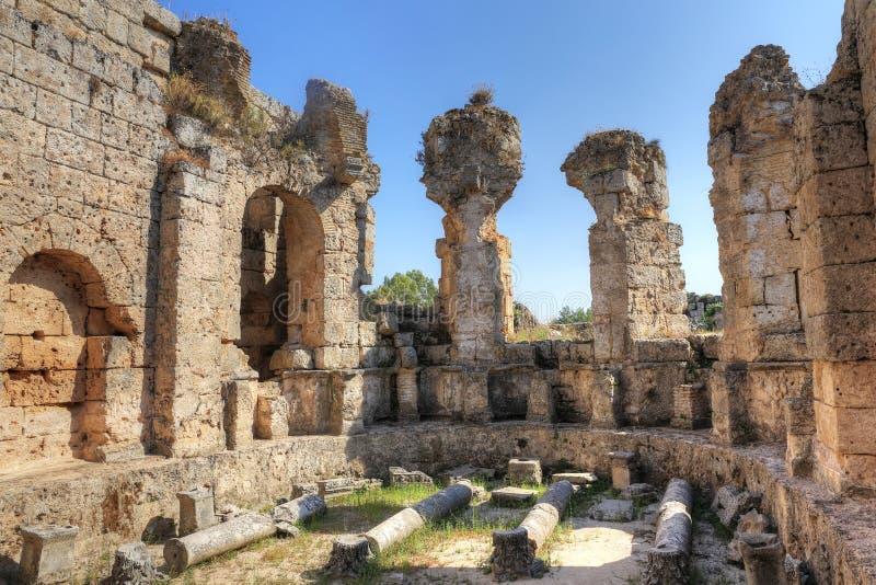 Perge antyczny miasto w Antalya zdjęcia royalty free
