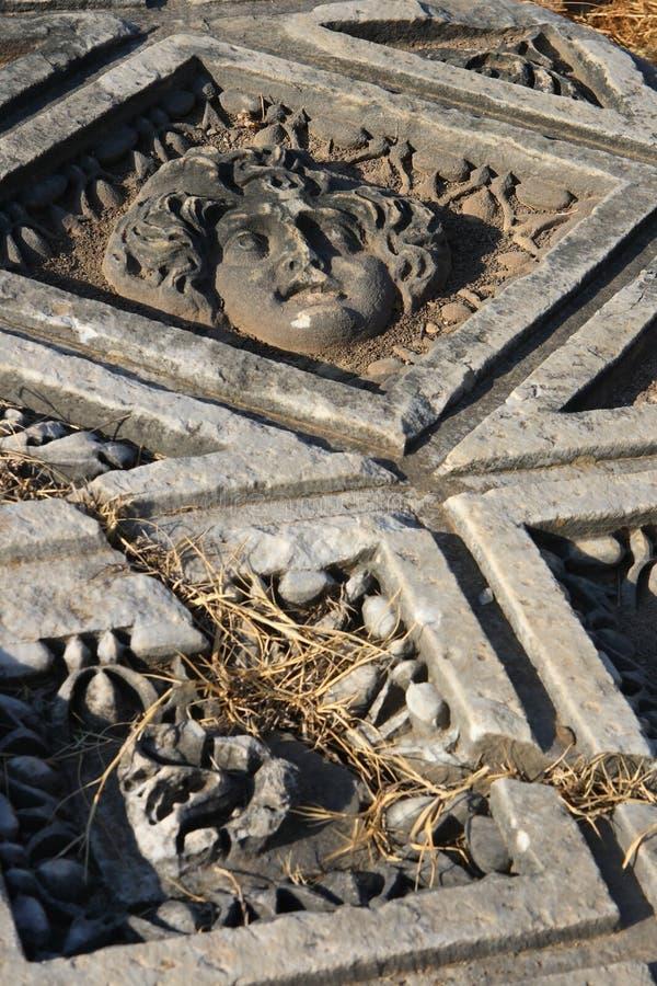 perge rzymskie ruiny starożytnego zdjęcia stock