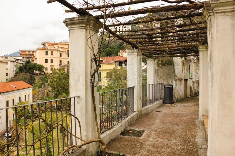 pergola Сад Minerva salerno r стоковое изображение rf