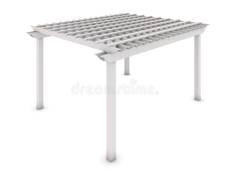 pergola en bois blanche illustration stock illustration du pergola 30918532. Black Bedroom Furniture Sets. Home Design Ideas
