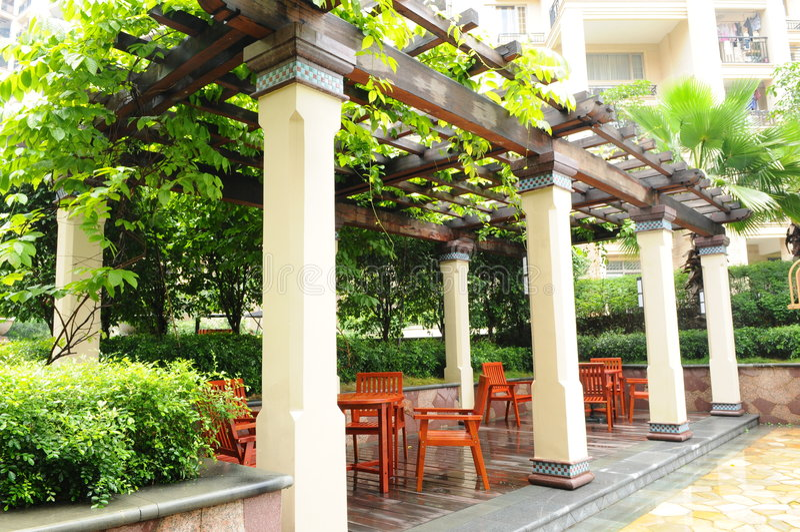 Download The Pergola In A Garden Stock Photo. Image Of Chair, Garden    5532928