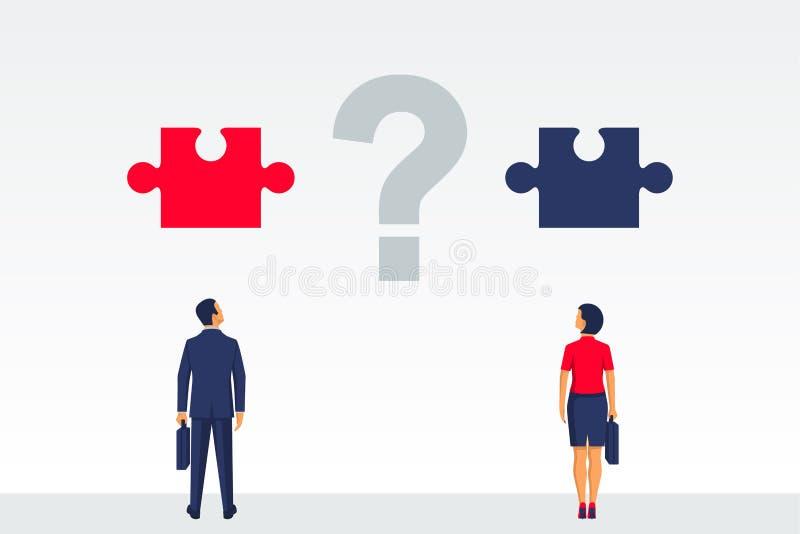 A pergunta é como organizar a cooperação ilustração stock