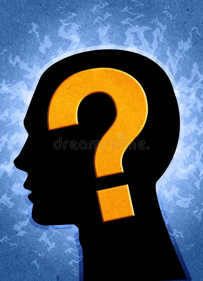 Pergunta? ilustração royalty free