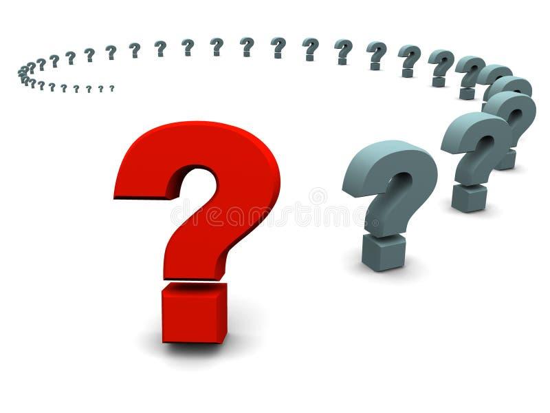 Pergunta. ilustração stock