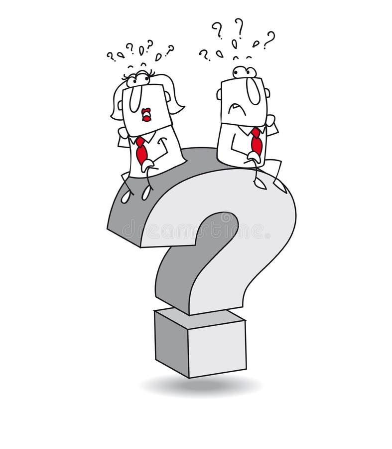 Pergunta ilustração stock
